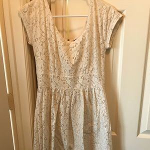 White Lace banana Republic Mad Men collection dres